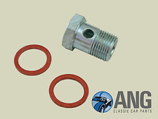 TRIUMPH TR2,TR3,TR3A,TR4 FLOAT LID TO FUEL PIPE BANJO BOLT & WASHERS KIT AUC2698