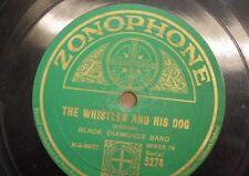 78 Rpm Banda de Diamantes Negros el Whistler y su perro/en una tienda relogero