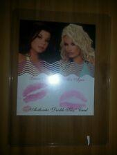 BENCHWARMER MODEL ACTUAL DOUBLE KISS TRADING CARD LANA KINNEAR & ALIX AGAR