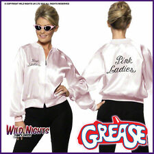 Smiffy's 28385M Women's Grease Ladies Jacket Size M - Pink