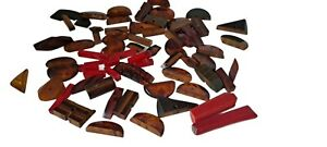 78 Pc Bakelite Pieces Carved Laminated For Jewelry Parts Crafting Tested