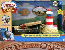 THOMAS & FRIENDS WOODEN RAILWAY ~ LIGHTHOUSE DRAWBRIDGE BRIDGE W/BULSTRODE RARE!