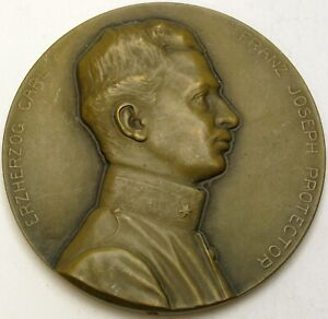 AUSTRIA International Pharmaceutical Exhibition 1913 Medal / Duke Carl - Brass *