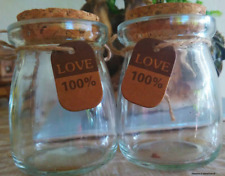 Glass Bottles - Retro Milk Bottle (without rope and love tag)