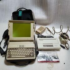 Vintage Data General One 2t Computer w Bag, 120& 12 volt Cords, Diconix Printer.