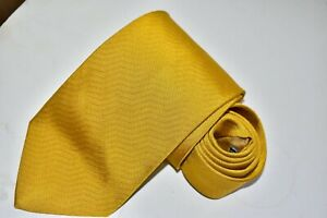 Men's Gucci Yellow Silk Neck Tie made in Italy
