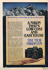 1979 Print Ad of Nikon EM Automatic 35mm Camera