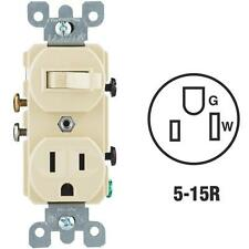 3 Pk Do it Best Ivory 15A Toggle Switch & 5-15R Electric Outlet C23-05225-00I