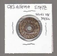 [48161] UNDATED OKLAHOMA STATE SALES TAX TOKEN
