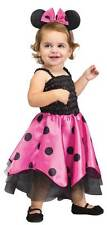 TODDLER GIRLS MINNIE MOUSE COSTUME PINK DRESS & EARS FANCY DRESS OUTFIT NEW  1-2