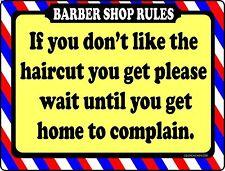 Barber Shop Sign Complain At Home Barber Supplies Barber Salon Supplies