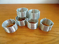 8 Silver Wire Napkin Rings