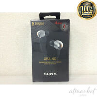 Sony XBA-40/S Silver | Quad Balanced Armature In-Ear Headphones from JAPAN EMS