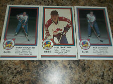 1984-85 VICTORIA COUGARS RUSS COURTNALL WHL PLAYER CARD
