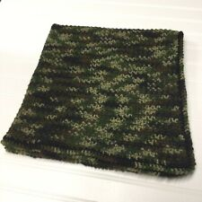 Crochet Camouflage Baby Blanket Lap Blanket Handmade Greens Black Medium Weight