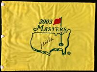 Mike Weir Signed 2003 Masters Augusta National Golf Club Flag Autographed