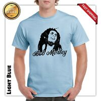 Bob Marley T Shirt Jamaica Tee Reggae Weed Rasta Graphic Smoke Street Wear