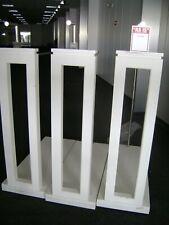 White Ss Retail Floor Single Side Garment Display Rack