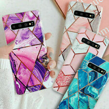 For Samsung Galaxy S8 S9 S10 S20Plus Marble Shockproof Silicone Phone Case Cover