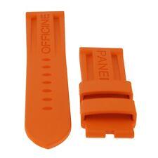 Panerai Straps Original Factory 24x21mm Mens Orange Rubber Strap Never Worn