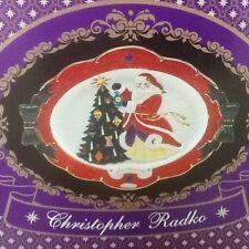 Christopher Radko Joy Holiday Christmas Platter Dish Santa Scene New Boxed