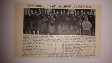 Riverside Military Academy Gainesville & Darlington Rome 1927 Football Team Pic