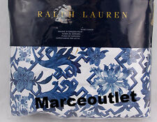 Ralph Lauren Home Dorsey KING Duvet Cover White / Blue