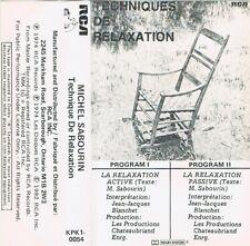 Technique de Relaxation cassette Michael Sanbourin New Age 1974 RCA Canada RARE!