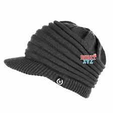 NEW Unisex Winter Visor Beanie Knit Hat Cap Crochet Men Women Ski Warm