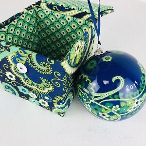 Vera Bradley Christmas Ornament in Rhythm and Blues