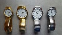 Classic Expandable Stretch Band Strap Big Numbers Dial Ladies Gents Quartz Watch