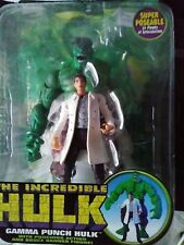 The Incredible Hulk Gamma Punch Bruce Banner Action Figure Marvel Toy Biz