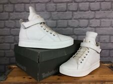 TIMBERLAND LADIES UK 6 EU 39 OFF WHITE LEATHER MAYLISS HI TOP STRAP BOOTS £120