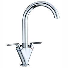 Commercial Kitchen Sink Twin Lever Monobloc Mixer Tap