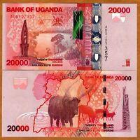 Uganda, 20000 (20,000) Shillings, 2010, P-53a, UNC