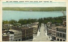 Wisconsin, WI, Madison, Lake Monona South  from  Capitol Dome 1920's Postcard