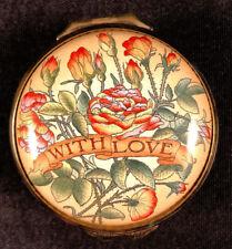 Mib 2006 Halcyon Days Enamels With Love St. Valentine'S Day Trinket Pill Box