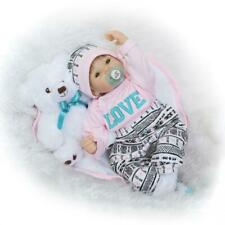 Reborn Baby Dolls Handmade Real Looking Newborn Baby Vinyl Cute Baby Doll 22inch