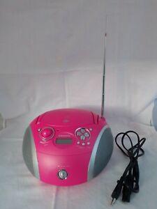 Grundig RCD 1445 USB 2.0, CD Player, MP3, Radio, pink, funktioniert, bitte lesen
