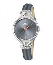 Lotus Damenuhr Uhr Edelstahl Leder Grau Armbanduhr 18399/2