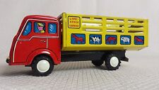 Awesome Rare Vintage Livestock Trailer Tin Friction COE Truck, CRAGSTAN 1950s