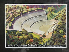 1936 Berlin Germany Olympics Artist Stadium View Postcard Cover