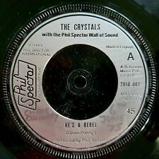 """The Crystals - He's A Rebel / I Love You Eddie - 1964 Ex Con Reissue 7"""""""