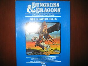 Dungeons and Dragons Set 2 Expert Rules first edition 1983 Complete