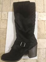 Fergalicious Boots By Fergie -Larissa Black Size 10 Medium Wide Knee High NWOB