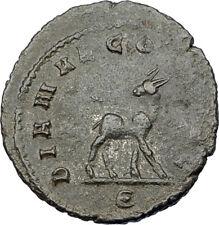 GALLIENUS son of Valerian I 267AD Authentic Ancient Roman Coin DEER i65644
