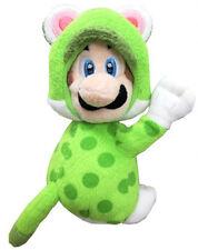Super Mario Luigi Cat Version with Magnetic Hands Peluche Plush 19 cm.