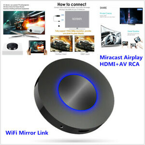 Car Home Media Player Airplay HDMI+AV RCA TV WiFi MirrorLink Screen Video Dongle