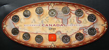 1999 Canada Millennium 25 Cents Collector Set of Coins  w/ Original Box SB1999BX