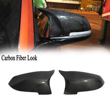 2x For BMW F10 F11 F01 Mirror Cover Replacement Side Wing Caps Carbon Fiber Look